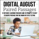 Digital August ELA Paired Passages for Upper Elementary  