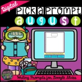 Back to School Digital Writing Prompts for Google Slides |