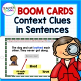 Boom Cards CONTEXT CLUES READING COMPREHENSION Activities