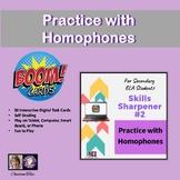 Practice With Homophones Digital BOOM Cards