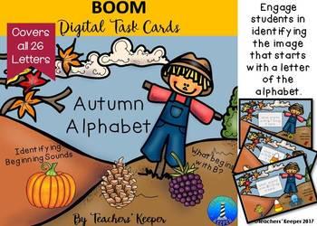 Digital BOOM Task Cards: Autumn Alphabet
