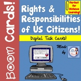 Digital BOOM Task Cards: Rights & Responsibilities of US Citizens