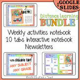 Digital BUNDLE: WEEKLY + 10 tabs NOTEBOOK + NEWSLETTERS for Google Slides™
