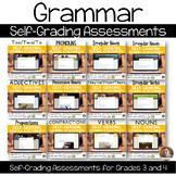 Digital BUNDLE of SELF-GRADING GRAMMAR Assessments for Google Classroom