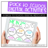 Digital Back to School Activities {2nd Grade}