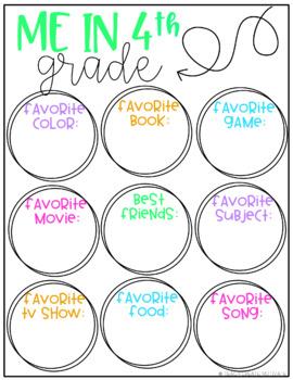 Digital Back to School Activities {4th Grade}