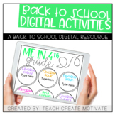 Digital Back to School Activities {4th Grade}