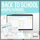 Digital Back to School Activities for Distance Learning