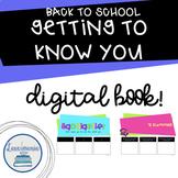 Digital Back to School Activity