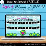 Digital | Back to School | BULLETIN BOARD FREEBIE | Future World Changers