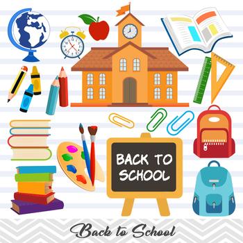Digital Back to School Clip Art, School Boy Clip Art, Back to School Boy Clipart