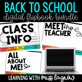 Digital Back to School Flipbook Bundle