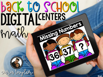 Digital Back to School Math Centers ~ First Grade