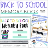 Digital Back to School Memory Book