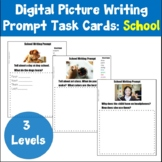Digital Back to School Picture Writing Prompts Distance Learning