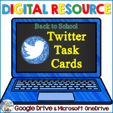 Digital Back to School Twitter Task Cards