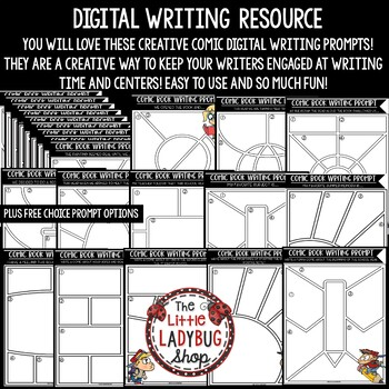 Digital Back to School Writing Prompts 3rd Grade, 4th Grade for Google  Slides