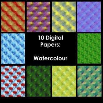 Digital Background Paper - Watercolours (color)