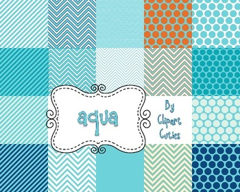 Digital Background Papers- Tangerine Splash {blues and oranges)