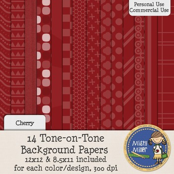 Digital Background Papers - Tone-on-Tone Cherry