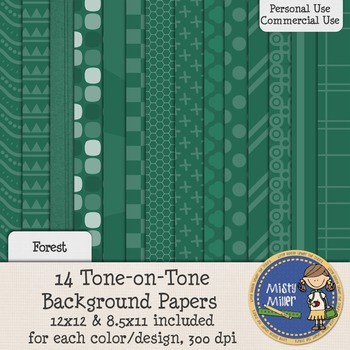 Digital Background Papers - Tone-on-Tone Forrest
