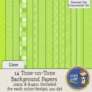Digital Background Papers - Tone-on-Tone Lime