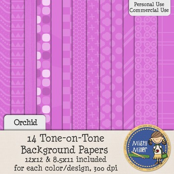 Digital Background Papers - Tone-on-Tone Orchid