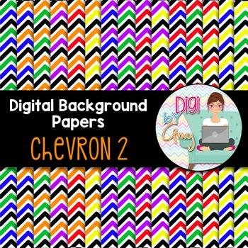 Digital Background clipart - Scrapbook Pack - Chevron 2