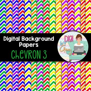 Digital Background clip art - Scrapbook Pack - Chevron 3