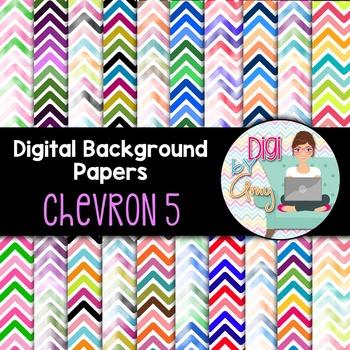 Digital Background clipart - Scrapbook Pack - Chevron 5