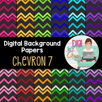 Digital Background clipart - Scrapbook Pack - Chevron 7