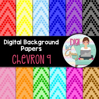 Digital Background clipart - Scrapbook Pack - Chevron 9