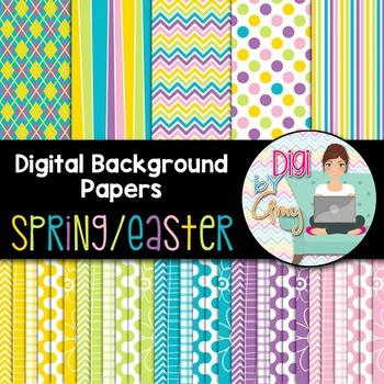 Digital Paper Background Clip Art Spring Easter