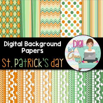 Digital Background clip art - Scrapbook Pack - St. Patrick's Day
