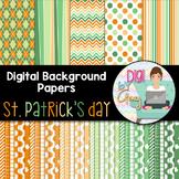 Digital Background - Scrapbook Pack - St. Patrick's Day