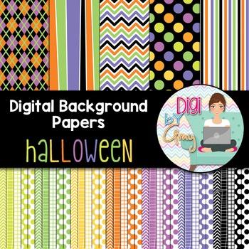 Digital Background - Scrapbook Pack - Halloween