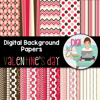 Digital Paper Background Clip Art Valentine's Day
