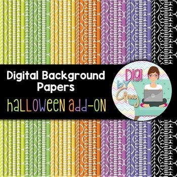 Digital Background - Scrapbook Pack - Halloween Add On