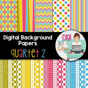 Digital Background clip art - Scrapbook Pack - Quartet 2