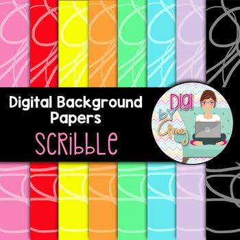 Digital Paper Background Clip Art Scribble FREEBIE