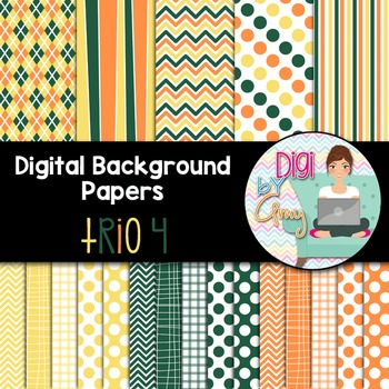 Digital Background clip art - Scrapbook Pack - Trio 4