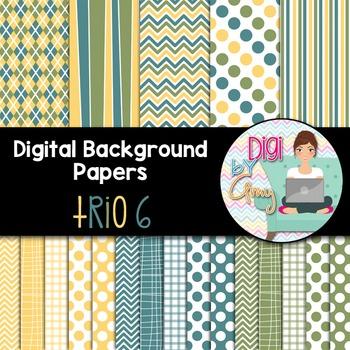 Digital Background clip art - Scrapbook Pack - Trio 6