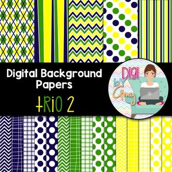 Digital Background clip art - Scrapbook Pack - Trio 2