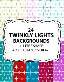 Digital Background Twinkly Lights