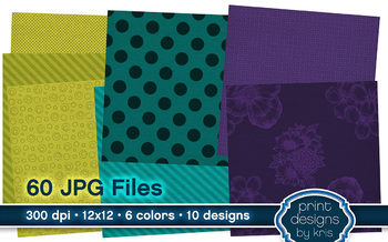 Digital Backgrounds - 60 Canvas Style Colorful Backgrounds