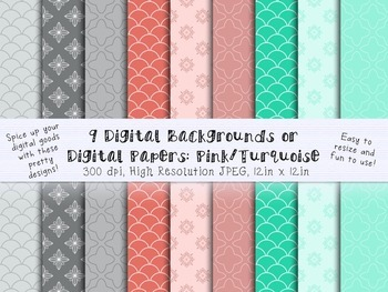 Digital Backgrounds, Clip Art, Digital Papers for Creating Teacher Resources
