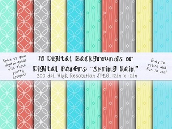 Digital Backgrounds, Clip Art, Digital Papers to use for your TPT Products