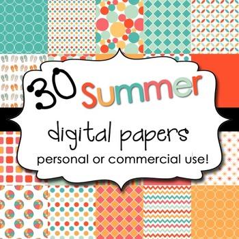 Digital Backgrounds: Summer 1 Pack