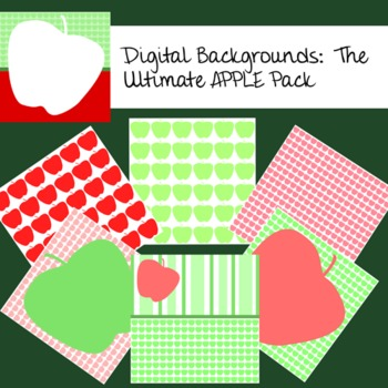 Digital Backgrounds:  The Ultimate APPLE Pack
