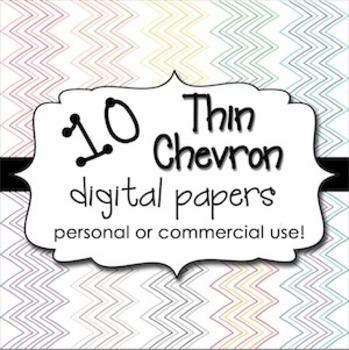 Digital Backgrounds: Thin Chevron Pack